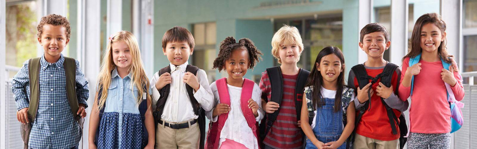 Education Kids with Backpacks